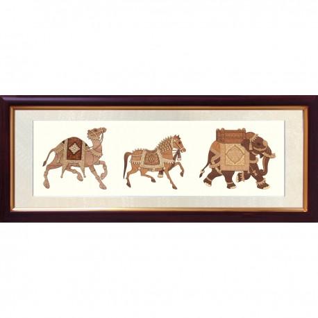Animal Procession 8 x 20