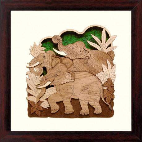 Three Elephants 10 x 10