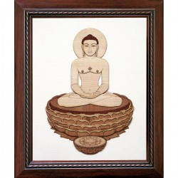 Mahavir with Lotus 11 x 13