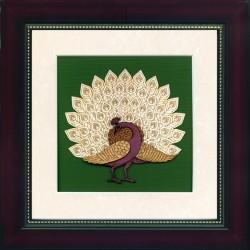 Dancing Peacock 8 x 8